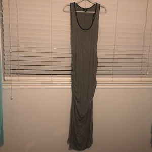 Massimo Casual Grey Rouched Maxi Dress